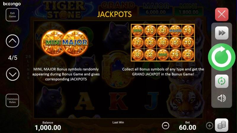 Tiger Stone :: Jackpots