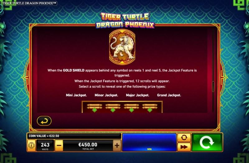 Tiger Turtle Dragon Phoenix :: Jackpot Rules