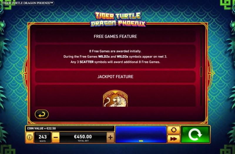 Tiger Turtle Dragon Phoenix :: Free Game Rules