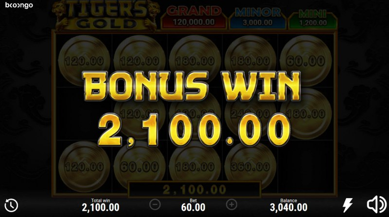 Tiger's Gold Hold and Win :: Total Feature Payout