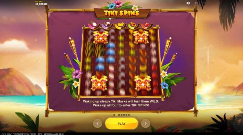 Tiki Fruits Totem Frenzy :: Wild Symbol Rules