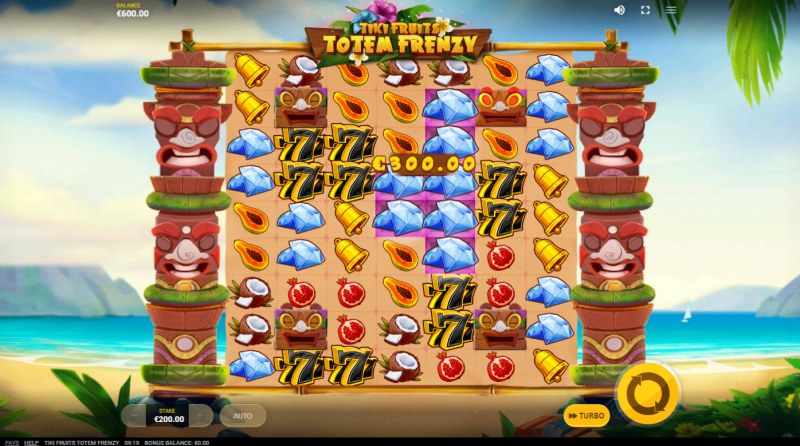 Tiki Fruits Totem Frenzy :: A cluster win
