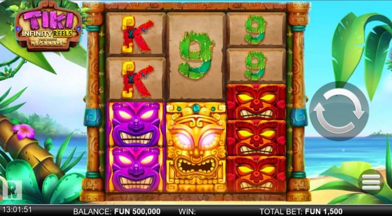 Tiki Infinity Reels Megaways :: Main Game Board