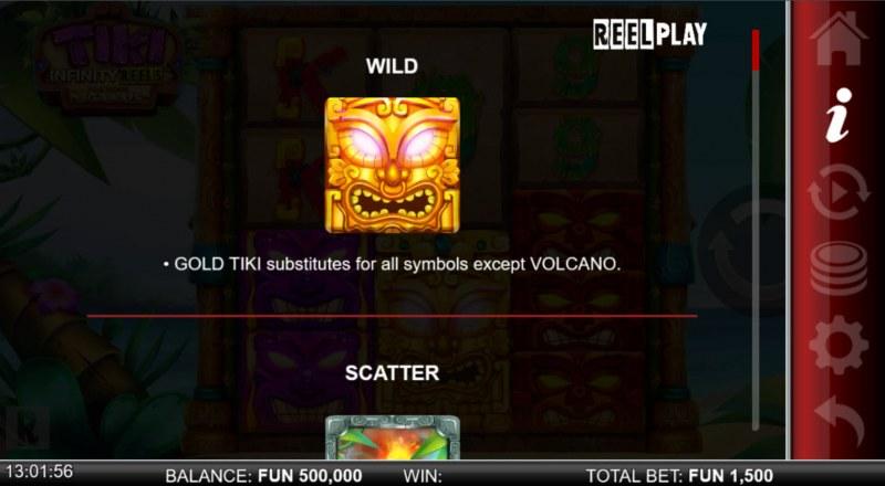 Tiki Infinity Reels Megaways :: Wild Symbol Rules