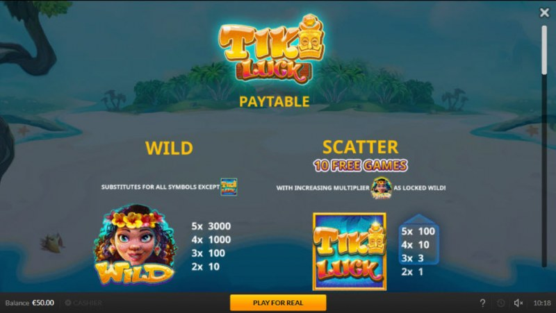 Tiki Luck :: Wild and Scatter Rules