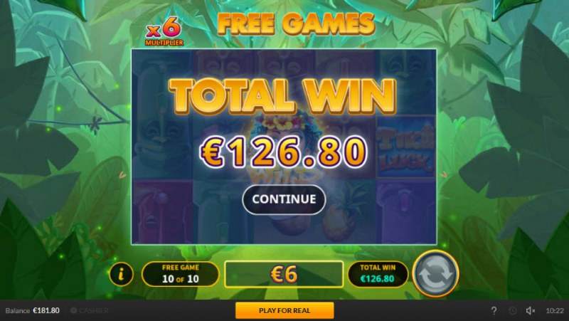 Tiki Luck :: Total free spins payout