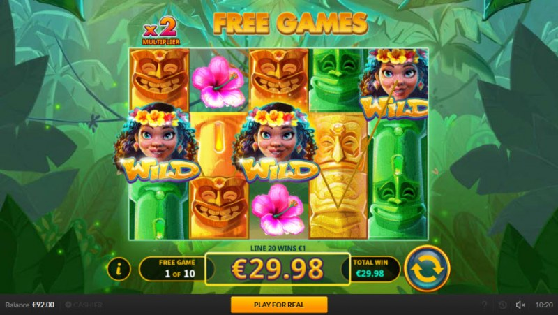 Tiki Luck :: Free Spins Game Board