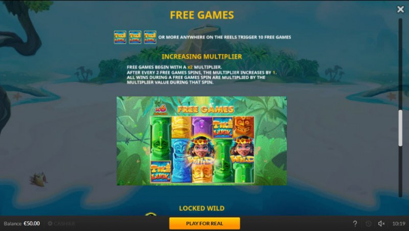 Tiki Luck :: Free Spins Rules