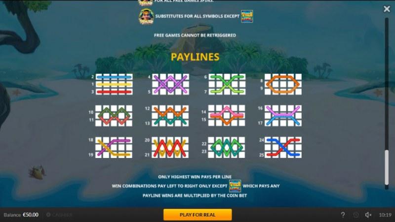 Tiki Luck :: Paylines 1-20