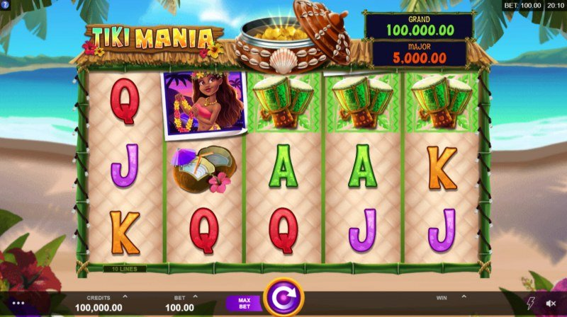 Play slots at Players Palace: Players Palace featuring the Video Slots Tiki Mania with a maximum payout of $100,000