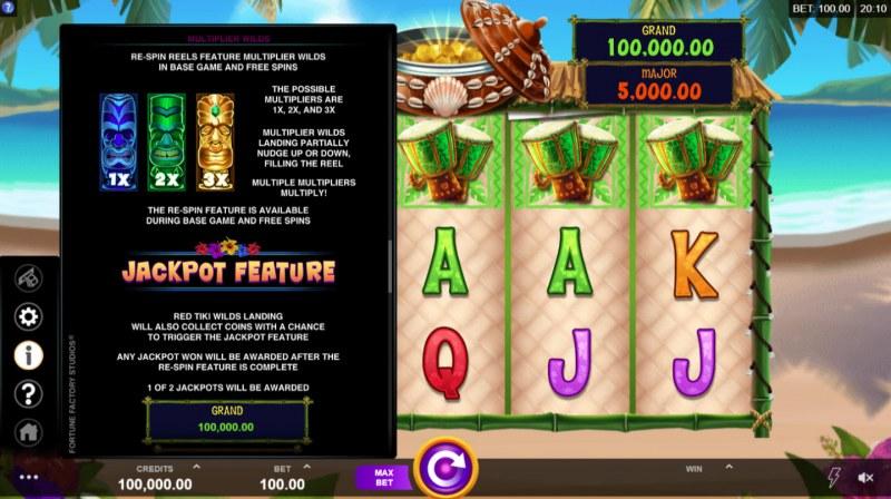 Tiki Mania :: Jackpot Rules