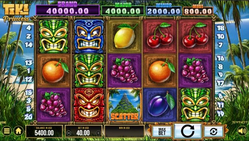 Tiki Princess :: Base Game Screen
