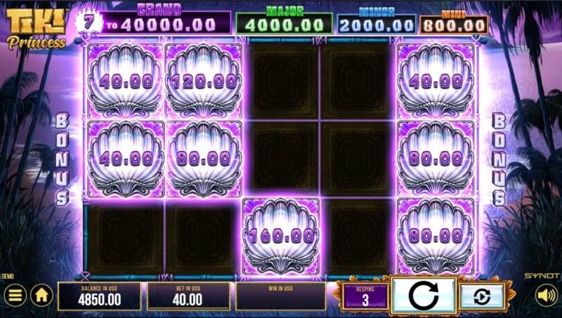 Tiki Princess :: Land additional bonus symbols to extend game play