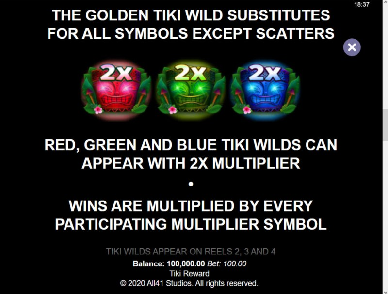 Tiki Reward :: Wild Symbol Rules