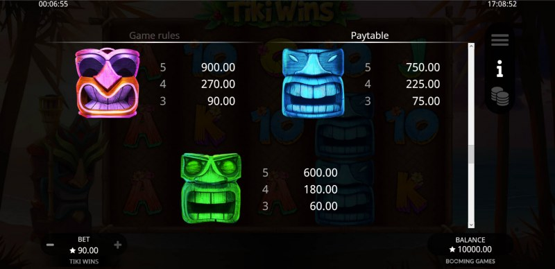Tiki Wins :: Paytable - High Value Symbols