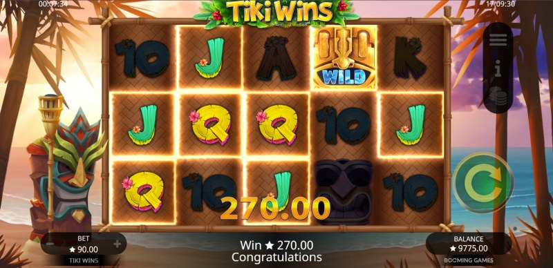 Tiki Wins :: Multiple winning paylines