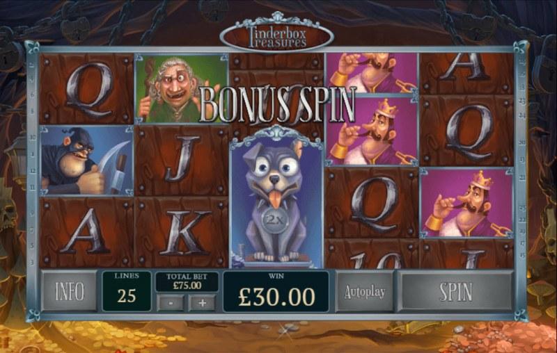 Tinderbox Treasures :: Bonus Spin award