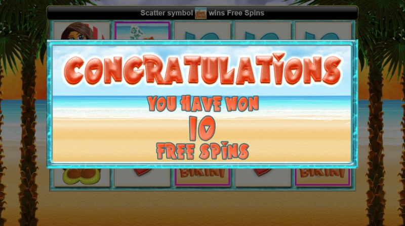 Tini Bikini :: 10 Free Spins Awarded