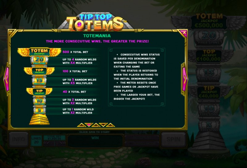 Tip Top Totems :: Feature Rules