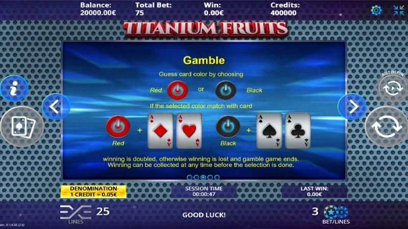 Titanium Fruits :: Gamble feature