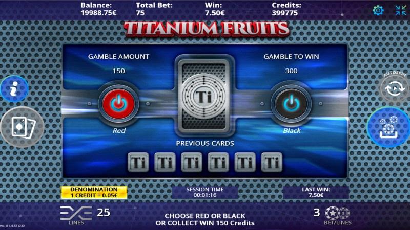 Titanium Fruits :: Red or Black Gamble Feature