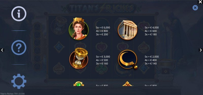 Titan's Riches :: Paytable - High Value Symbols