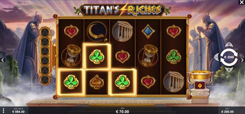 Titan's Riches :: A three of a kind win