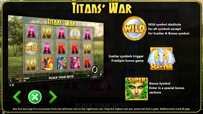 Titan's War :: Wild and Scatter Rules