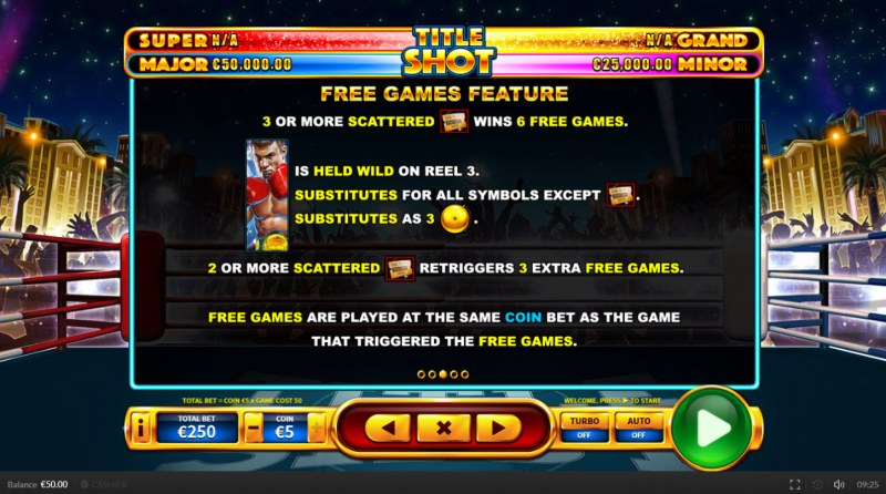 Title Shot :: Free Spins Rules