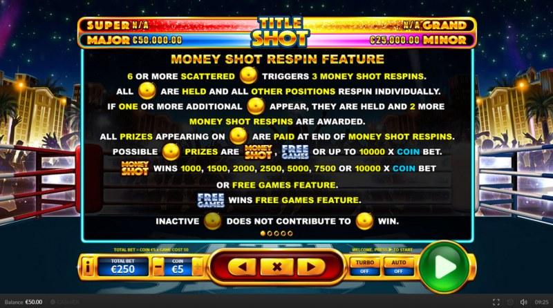 Title Shot :: Money Shot Respin Feature