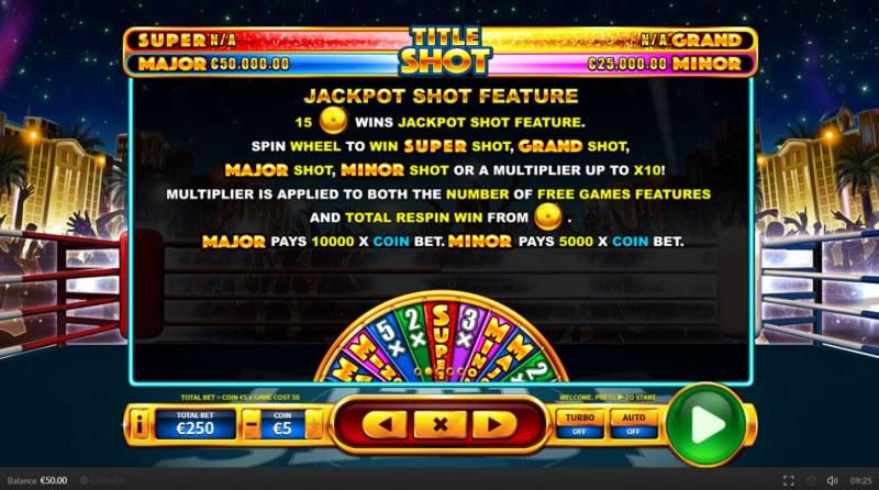 Title Shot :: Jackpot Shot Feature