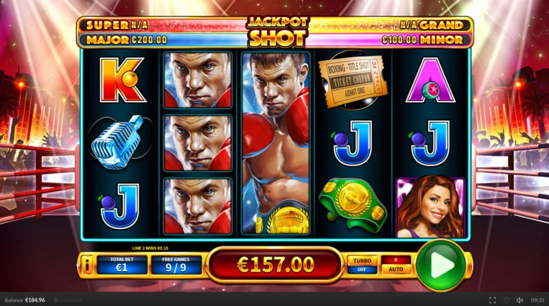 Title Shot :: Total free spins payout