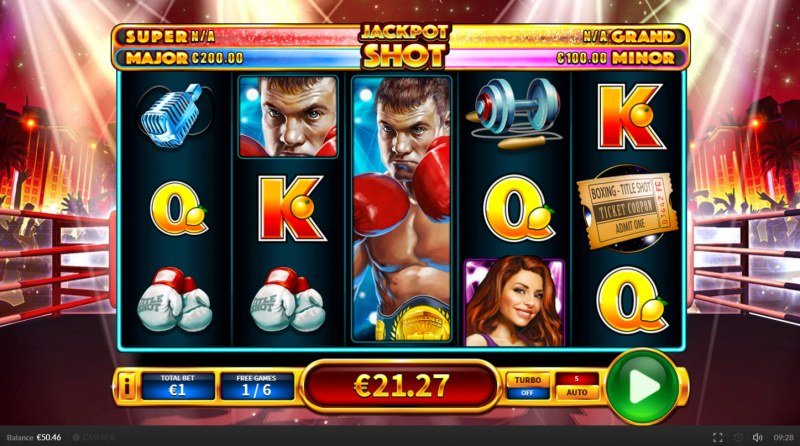 Title Shot :: Free Spins Game Board