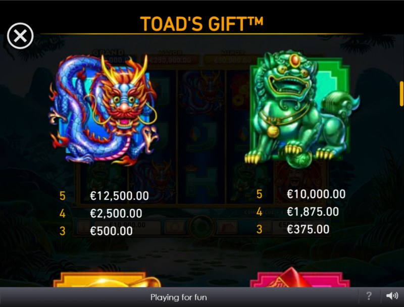 Toad's Gift :: Paytable - High Value Symbols