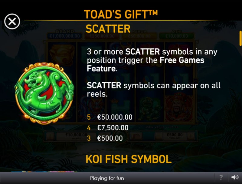 Toad's Gift :: Scatter Symbol Rules