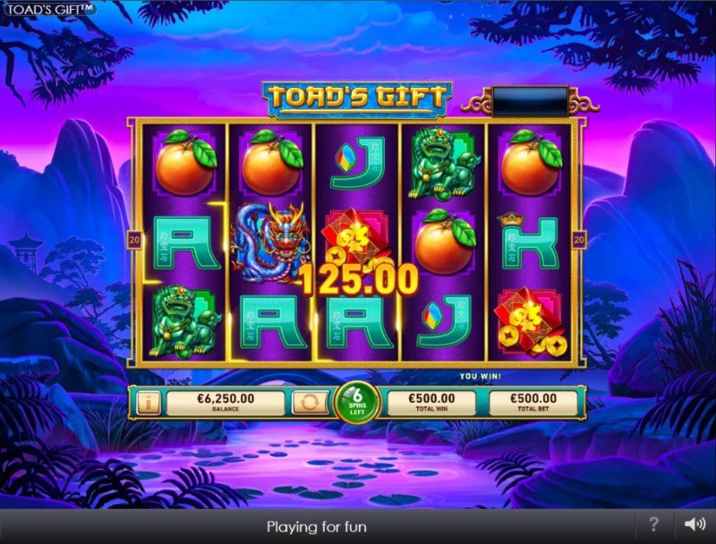 Toad's Gift :: Free Spins Game Board