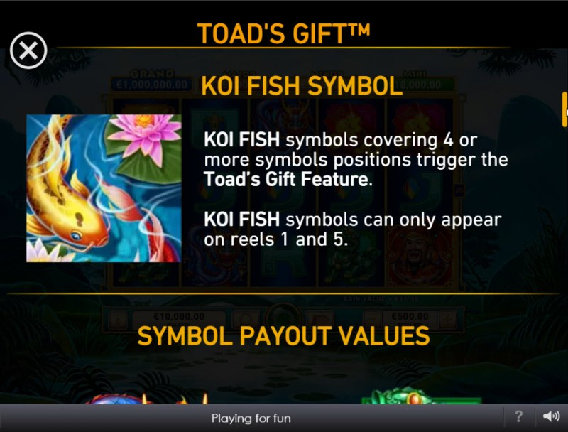 Toad's Gift :: Koi Fish Symbol