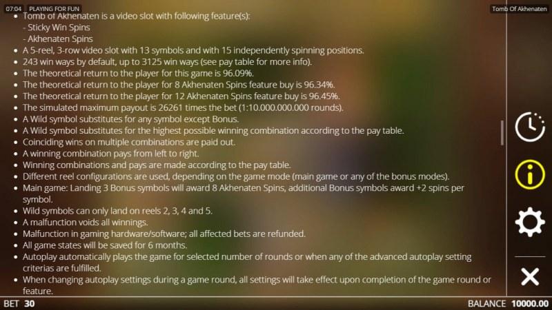 Tomb of Akhenaten :: General Game Rules