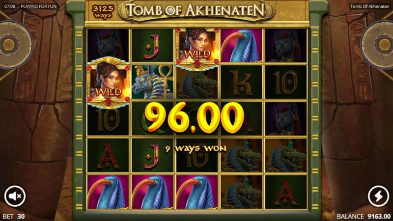 Tomb of Akhenaten :: Multiple winning combinations