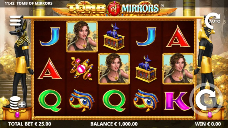 Play slots at Jackpot Paradise: Jackpot Paradise featuring the Video Slots Tomb of Mirrors with a maximum payout of $50,000