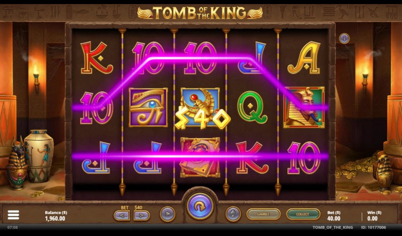Tomb of the King :: A pair of winning paylines