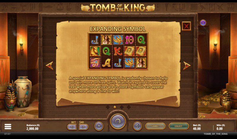 Tomb of the King :: Expanding Symbol