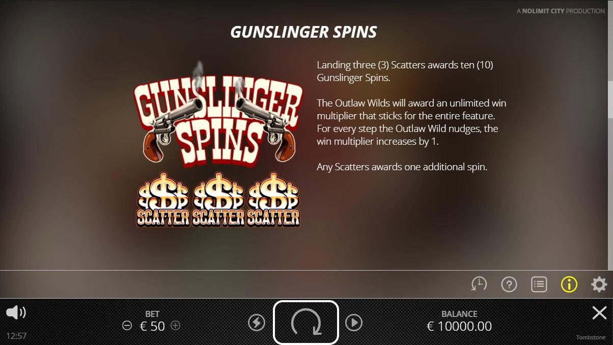 Tombstone :: Gunslinger Spins