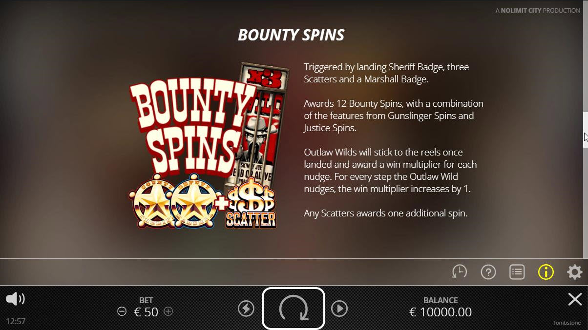 Tombstone :: Bounty Spins