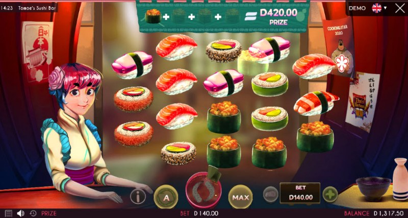 Tomoe's Sushi Bar :: Collect recipe items to win an instant prize