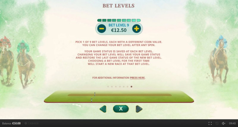 Top Cup Day :: Bet Levels