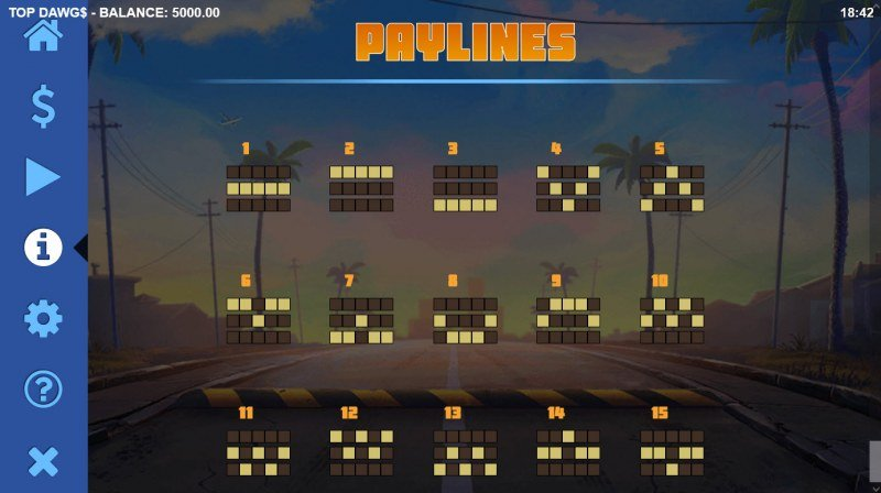 Top Dawgs :: Paylines 1-15