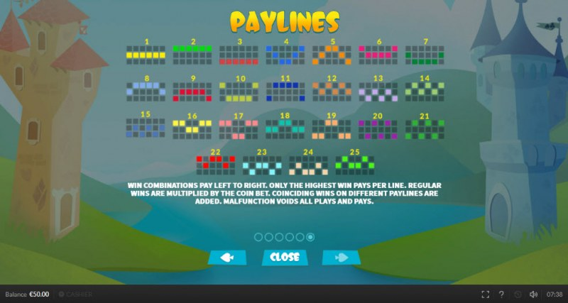 Top King :: Paylines 1-25