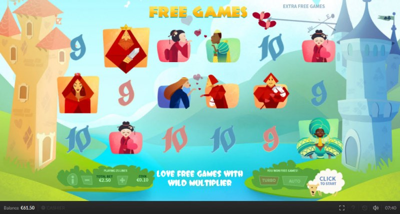 Top King :: Free games feature triggered