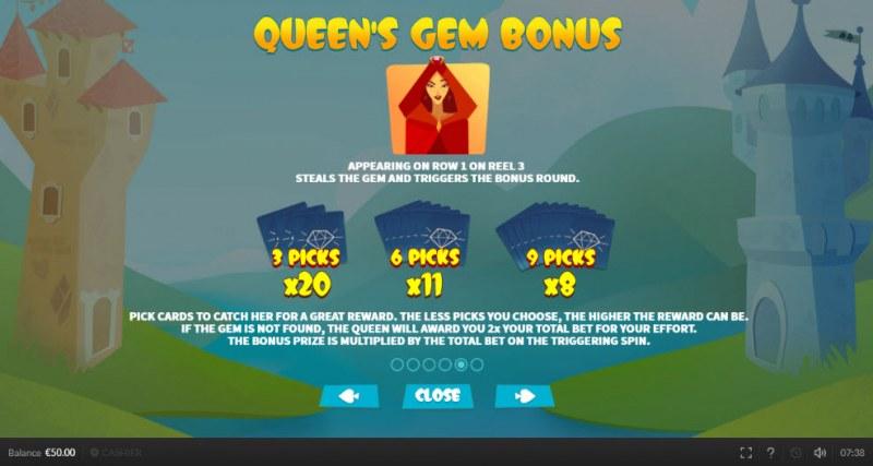 Top King :: Queen's Gem Bonus